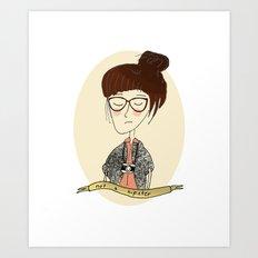 not a hipster Art Print