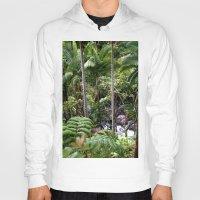 hawaiian Hoodies featuring Hawaiian Jungle by Moody Muse