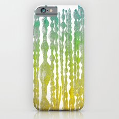 psychedelic stripes - green iPhone 6s Slim Case