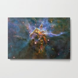 Mystic Mountain (a region in the Carina Nebula)(NASA/ESA Hubble Space Telescope) Metal Print