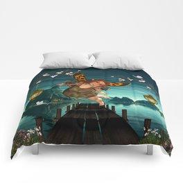 Cute flying fairy Comforters