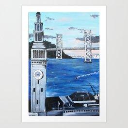 San Francisco Ferry Building Art Print