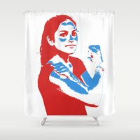 feminism Shower Curtains featuring Feminism by DebbieHughes