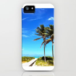 Palm Trees Caribbean Ocean iPhone Case