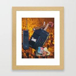 when a cowboy calls Framed Art Print