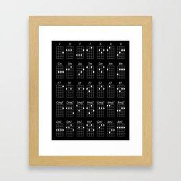 Ukulele chords Framed Art Print