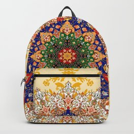 Gold mandala pattern Backpack