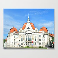 Piarist highschool romania timisoata architecture monument landmark Canvas Print