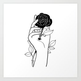 Hurt inside Art Print
