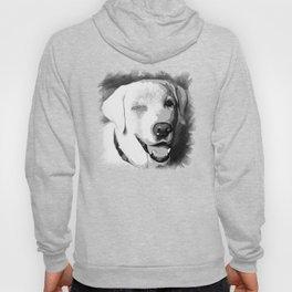 labrador retriever dog winking vector art black white Hoody