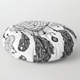 Dreamcatcher (Black & White) Floor Pillow