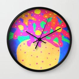 Still Life with Gold Vase Wall Clock