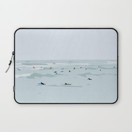 Tiny Surfers in Lima Illustrated Laptop Sleeve