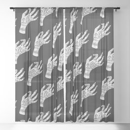 Palm Reading Sheer Curtain
