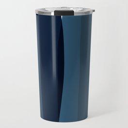 Modern Blue, Blue Painting, Blue Ombre Travel Mug