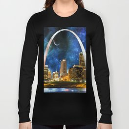 Spacey St. Louis Skyline Long Sleeve T-shirt