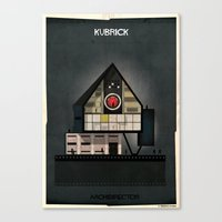 kubrick Canvas Prints featuring 05_ARCHIDIRECTOR_Stanley Kubrick by federico babina