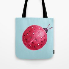 Spherical Abstract Watercolor Ladybug Tote Bag