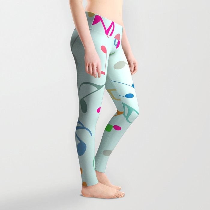 Music Colorful Notes Leggings
