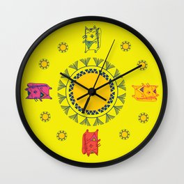The Cats of the Swing  Wall Clock