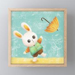 Where's my Umbrella? Framed Mini Art Print