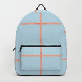 light blue open weave Backpack