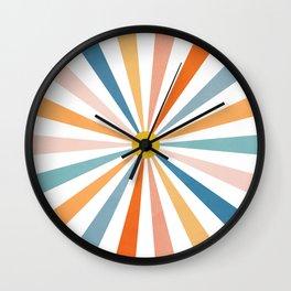Sun Retro Art V Wall Clock