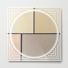 Toned Down - line/circle graphic Metal Print