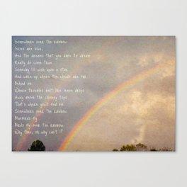 Over the Rainbow. Canvas Print