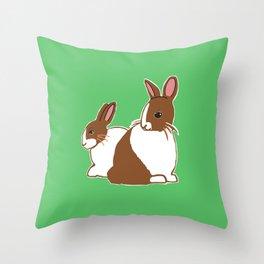 Chocolate Dutch Rabbits Throw Pillow