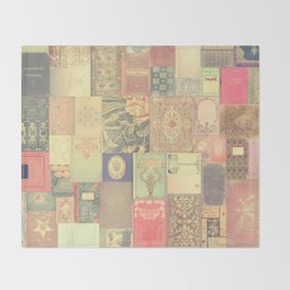 Dream with Books - Love of Reading Bookshelf Collage Throw Blanket