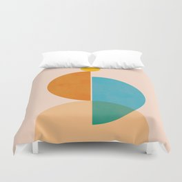 Abstraction_SUN_Rising_Minimalism_001 Duvet Cover