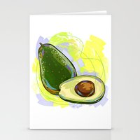 vietnam Stationery Cards featuring Vietnam Avocado by Vietnam T-shirt Project