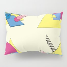 The Shape Haus: a Contemporary Bauhaus Composition Pillow Sham
