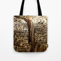tree rings Tote Bags featuring Tree Rings by tracy-Me