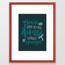 Squeegee Framed Art Print
