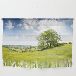 Idyllic Cotswold Summer Landscape Wall Hanging