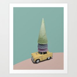 Driving Cones Art Print