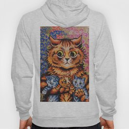 Cat and Her Kittens-Louis Wain Cats Hoody