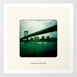 Manhattan Bridge 2010 Art Print