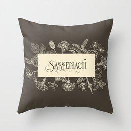 Sassenach in Sepia Throw Pillow