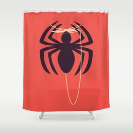 The Amazingly Bored Spider Shower Curtain