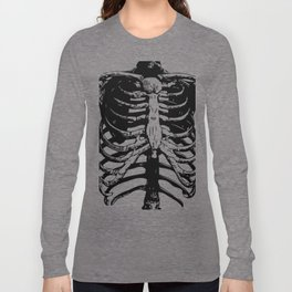 Skeleton Ribs | Black and White Long Sleeve T-shirt