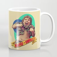 the goonies Mugs featuring Truffle Shuffle! by Silvio Ledbetter
