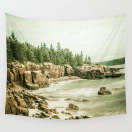 Acadia National Park Maine Rocky Beach Wall Tapestry