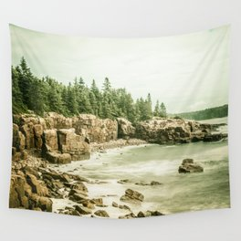 Acadia National Park Maine Rocky Beach Wall Tapestry
