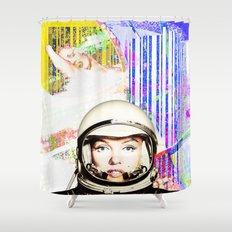 astronaut norma jeane Shower Curtain