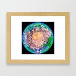 The World At My Feet Framed Art Print