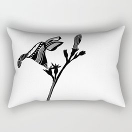 Vintage Abstract Oleander Rectangular Pillow