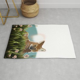 Maned Wolf at Sunset PNG Rug